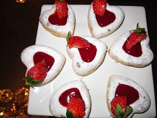 Recette des cœurs au confiture de fraise