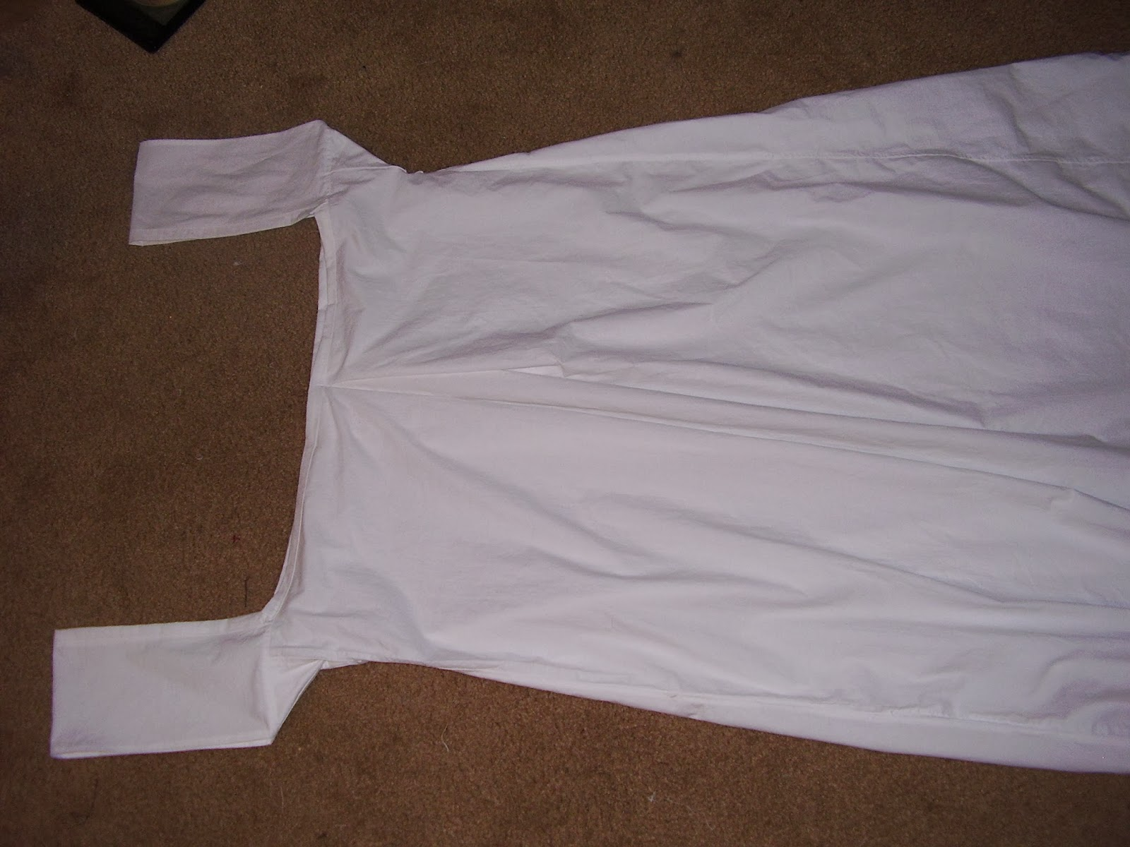 Completed Regency chemise.