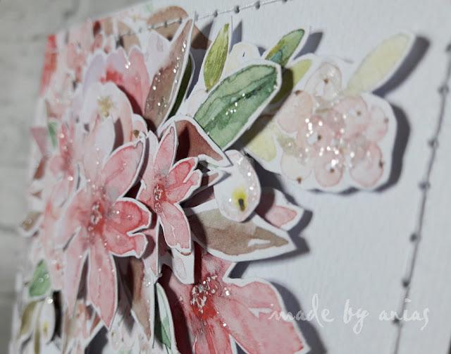jak układać kwiaty na kartce