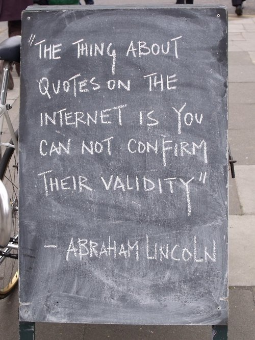 Funny Internet Quotes Abraham Lincoln