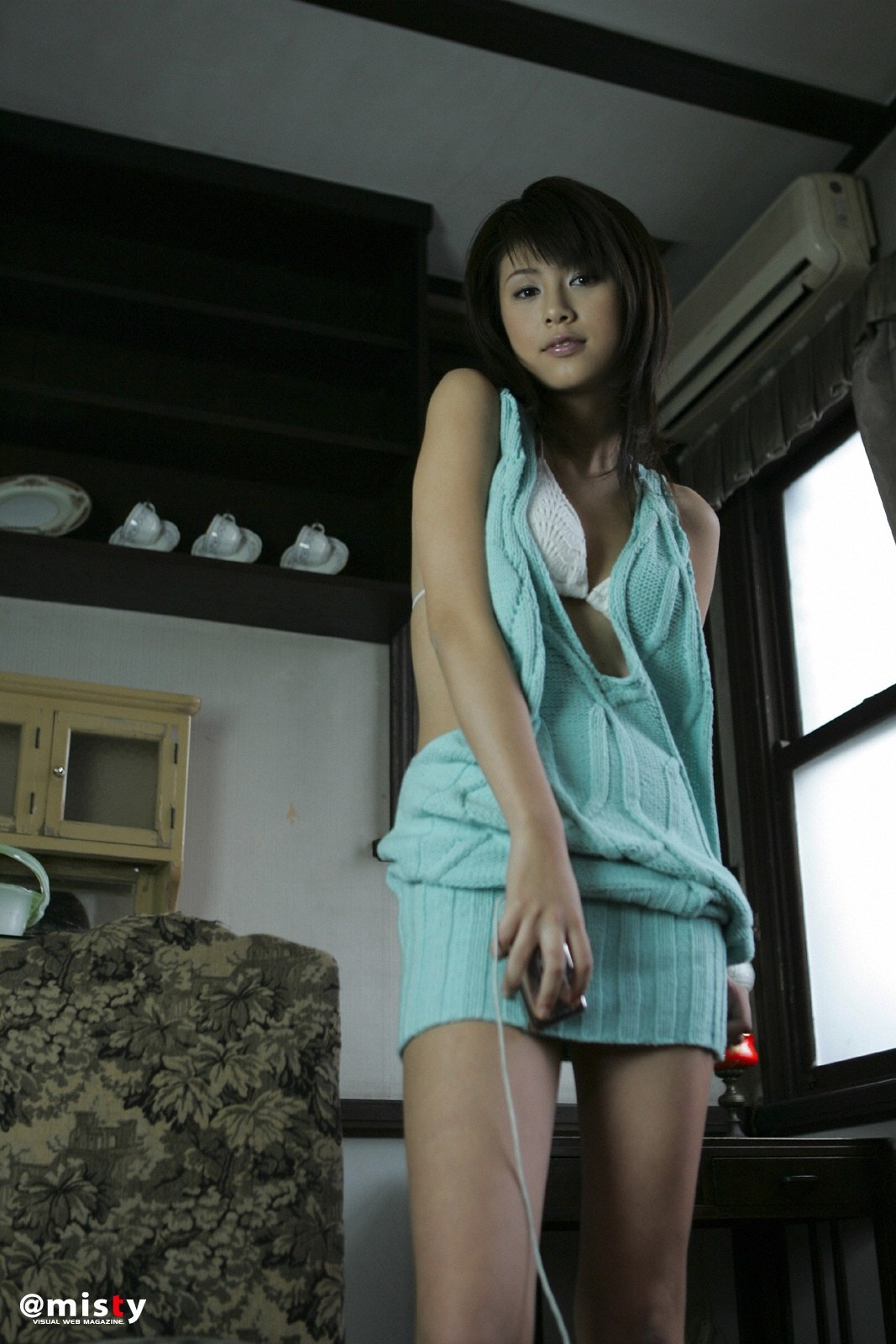 Asian Girls Sexy Yuka Kosaka In Yarn Dress-3654