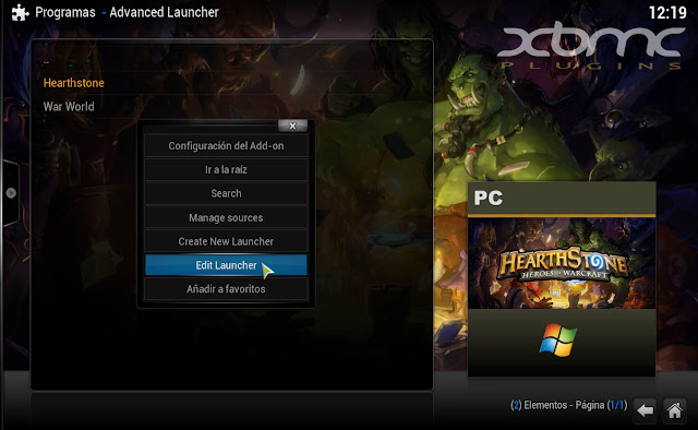 ADVANCED LAUNCHER HEARTHSTONE