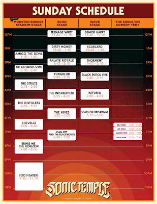Sonic Temple Art + Music Festival Day 3, headliners Foo Fighters- Sunday, May 19