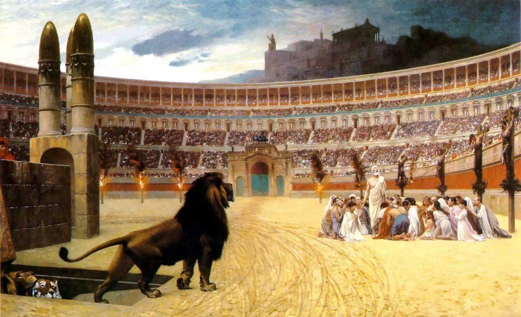 Cristãos na arena de Roma
