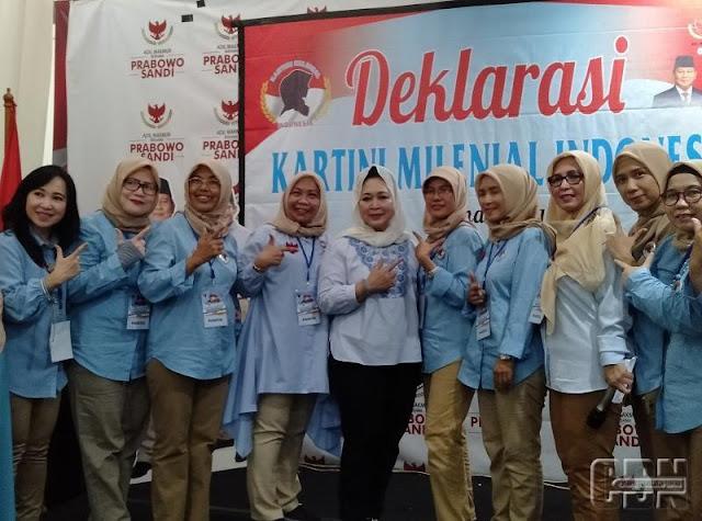 Kartini Milenial Indonesia Deklarasi Dukung Prabowo-Sandi