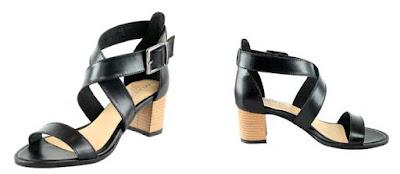 sandalias de tacon de piel negras