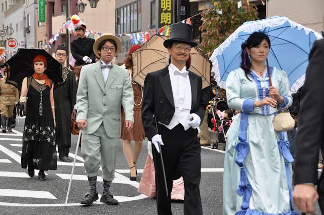 Yono Railway Station Dance Taisho Period Festival, October, Saitama