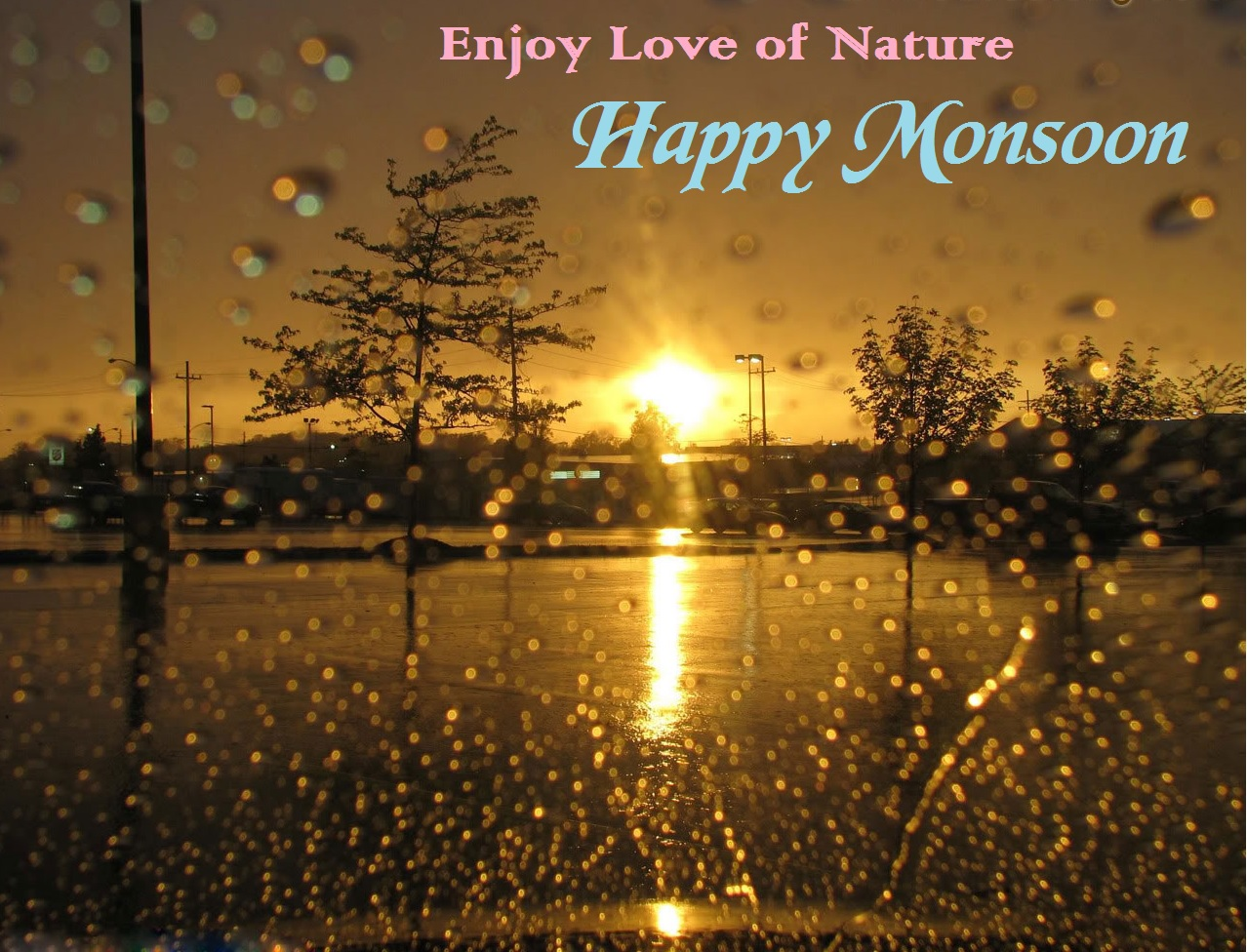 Enjoy Love Of Nature - Happy Monsoon Wallpaper