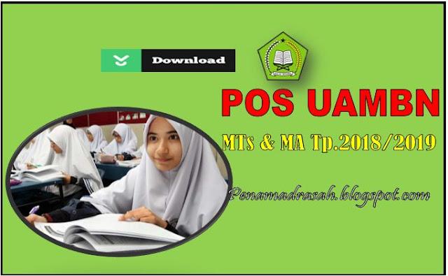 Jadwal UAMBN MTs dan MA Tahun Pelajaran 2018/2019