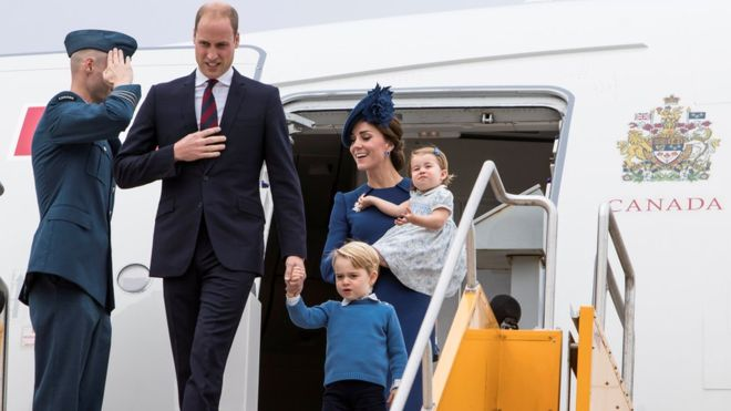 (Photos) Duke and Duchess of Cambridge and children arrive in Canada