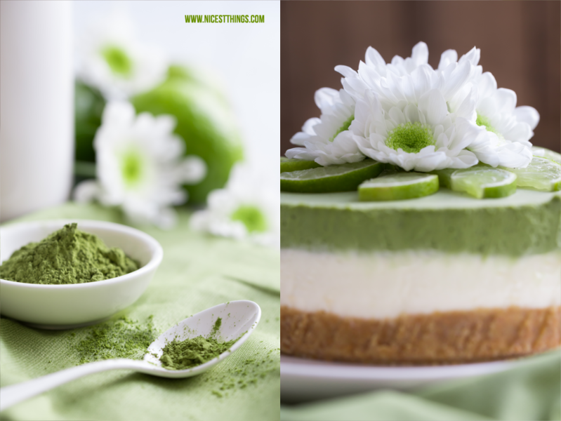 Matcha Cheesecake Backen mit Matcha Grüntee Pulver