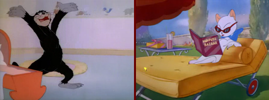 Tom and Jerry, Butch and Toodles Galore in their first appearances, 1943 - 1946