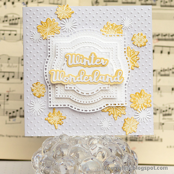 Layers of ink - White Layered Winter Card tutorial by Anna-Karin Evaldsson.