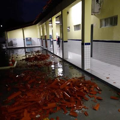 Susto grande! Temporal arranca telhados, derruba árvores e muros e causa pânico em moradores que vão parar em hospitais da região
