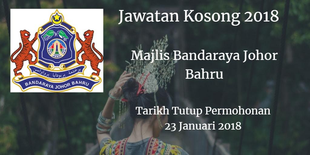 Jawatan Kosong MBJB 23 Januari 2018