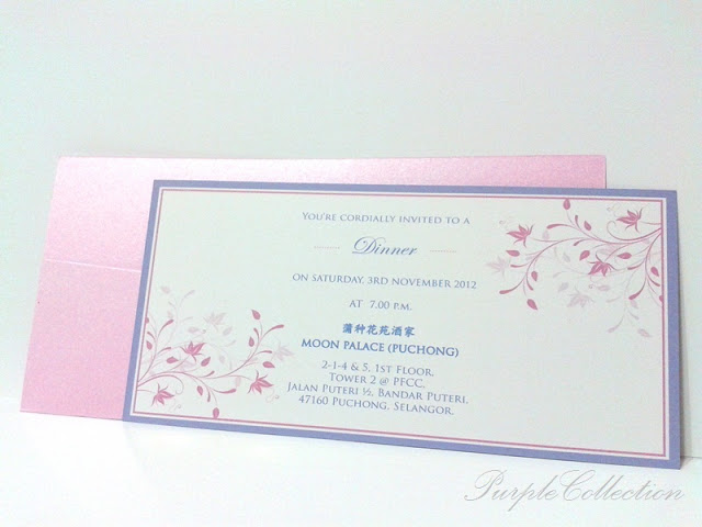 Pink Pocket Wedding Card, pink pocket, pink pocket card, pocket wedding card, wedding card, card, perfume pearl pink card, art card, 10 x 20cm, eddy lim and sue yee, eddy, eddy lim, sue yee, purple pink, purple pink, floral card