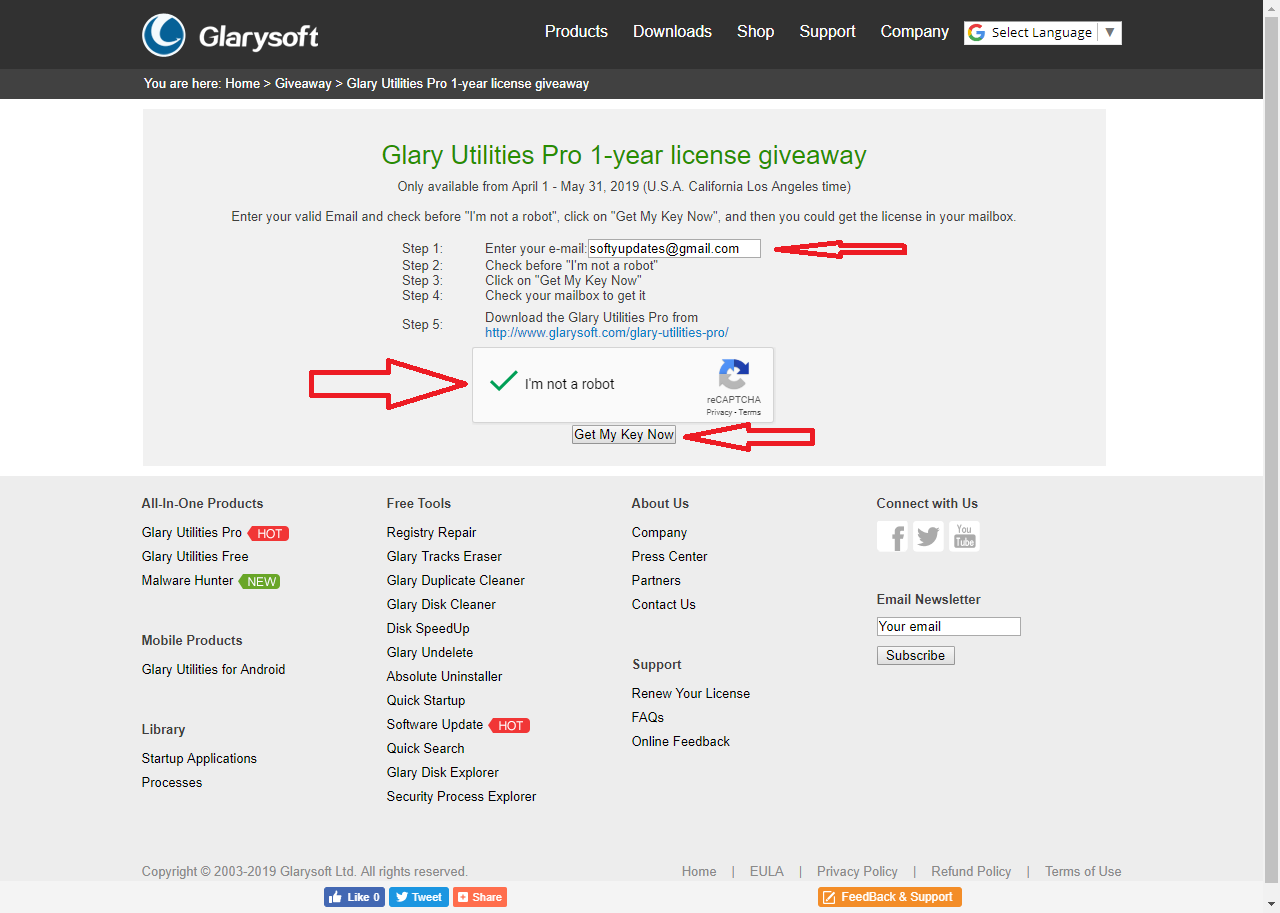 Glary Utilities Pro 1-year license giveaway