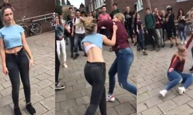 Απίστευτο ξύλο μεταξύ μαθητριών με… θεατές όλο το σχολείο (βίντεο)