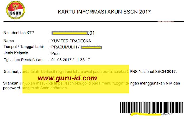 gambar kartu informasi login sscn bkn go id