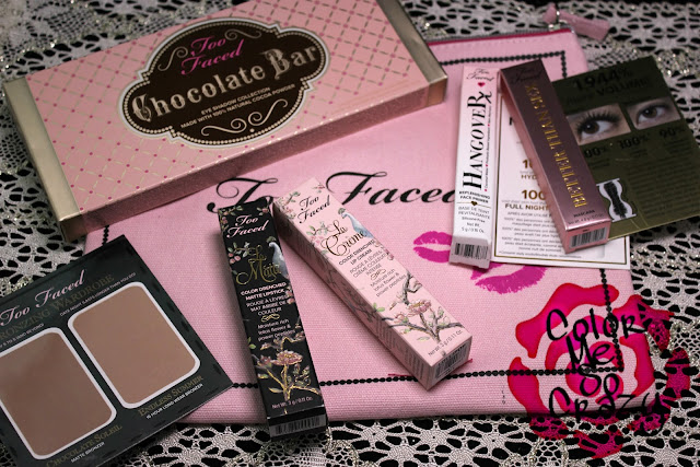 too faced, birthday present, makeup, primer, mascara, lipstick, eye shadow, blush, bought it