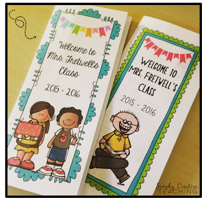Simply creative teaching back to school must haves for Meet the teacher brochure template
