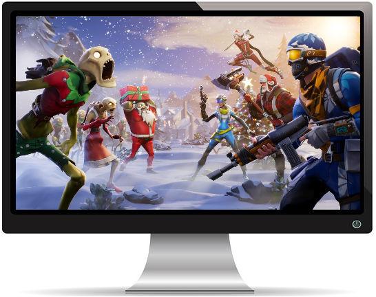 Fortnite Joyeux Noël Zombie - Fond d'écran en Full HD
