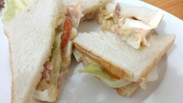 egg tuna sandwich