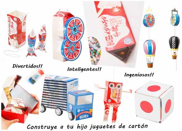 juguetes, reciclar, cajas, cartón, manualidades, diys