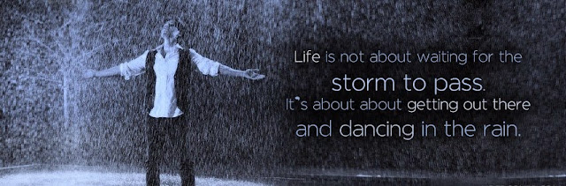 Rain quote Facebook cover