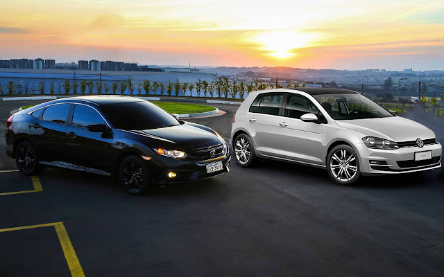 Honda Civic Sport 2017 x VW Golf Comfortline TSI - qual o melhor?