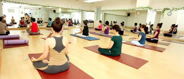 Không gian tập Yoga yên tĩnh, rộng rãi
