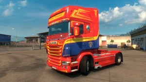 Scania RJL Overby Transport Real Skin