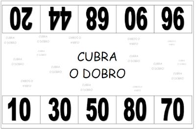 Tabuleiro do jogo CUBRA O DOBRO
