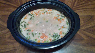 Chicken Pot Pie in the slow cooker