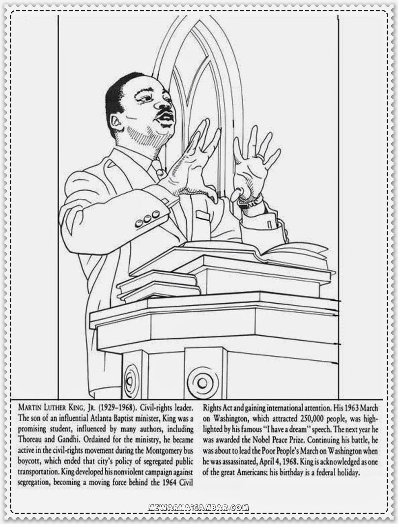 Martin Luther King Jr Coloring Pages Kindergarten