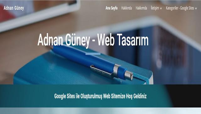 Google Sites Ana Sayfanızın tema düzeni, Ekleme araçları, Gezinme menüsü, Menü ayarları, Sayfalama ve web site yayınlama anlatım medyasını YouTube video ile izleyebilirsiniz.
