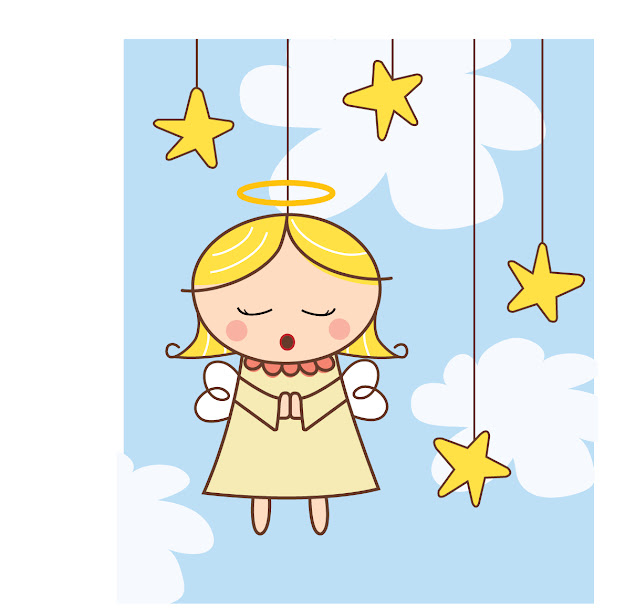 Cartoon Angel Vector Free Vector