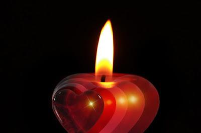 صورة شمعة رومانسية جميلة