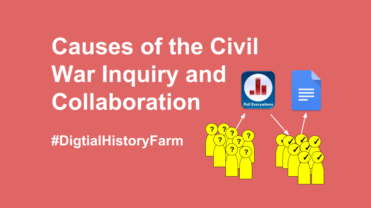 digital history farm causes of the civil war inquiry and the following student work came from a study on the causes of the civil war it started three given questions to which students asked questions they