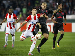 Arsenal vs Crvena Zvezda live stream Thursday 02 November 2017 UEFA Europa League