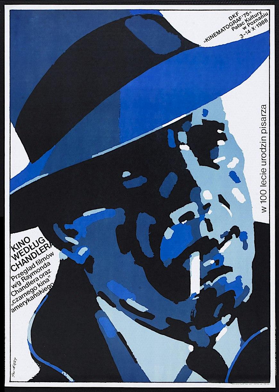 Polish film poster Humphry Bogart 1980s