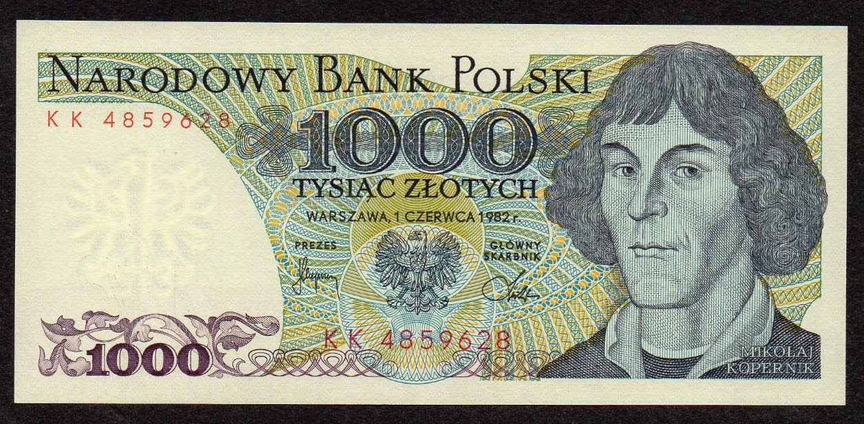 Poland Banknotes 1000 Zloty banknote Nicolaus Copernicus