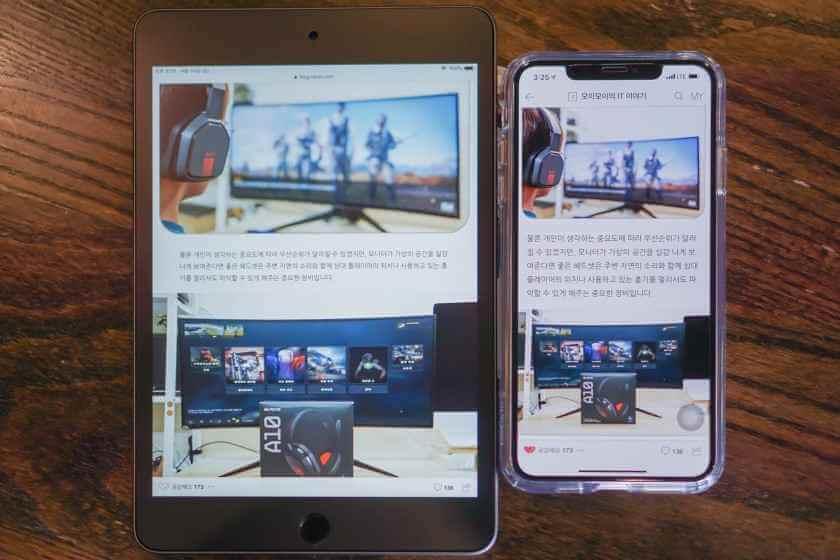 iPad mini 5 galaxy s10