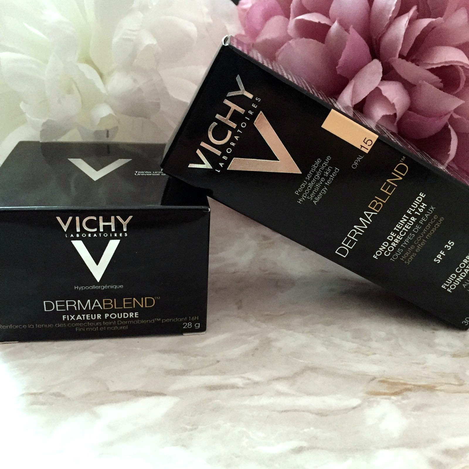 Vichy Dermablend Fluid Corrective Foundation And Setting