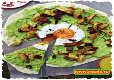 Breakfast pizza, Real guacamole