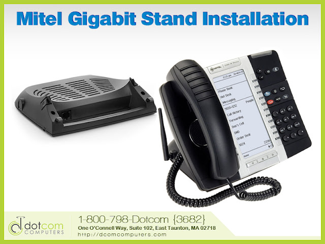 Installing the Mitel Gigabit Ethernet Stand on Your Mitel IP
