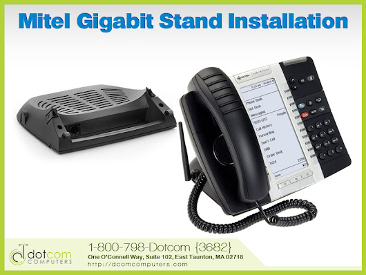 Installing the Mitel Gigabit Ethernet Stand on Your Mitel IP Phone