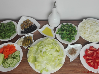 Sałatka słoikowa - składniki
