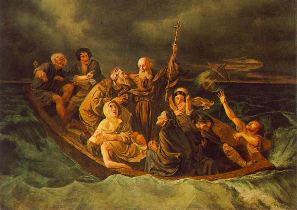 Lifeboat by Mihály Zichy, Macabre Art, Macabre Paintings, Horror Paintings, Freak Art, Freak Paintings, Horror Picture, Terror Pictures