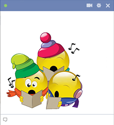 Carolers Facebook Smileys for Facebook